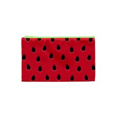 Seamless Watermelon Surface Texture Cosmetic Bag (xs) by Vaneshart
