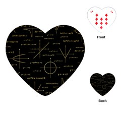 Abstract Math Pattern Playing Cards Single Design (heart) by Vaneshart
