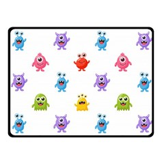 Seamless Pattern Cute Funny Monster Cartoon Isolated White Background Fleece Blanket (small)