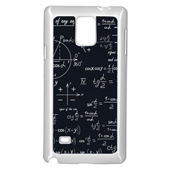 Mathematical Seamless Pattern With Geometric Shapes Formulas Samsung Galaxy Note 4 Case (white) by Vaneshart