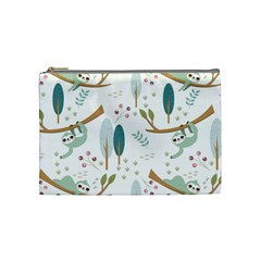 Pattern Sloth Woodland Cosmetic Bag (medium)