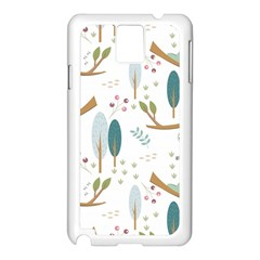 Pattern Sloth Woodland Samsung Galaxy Note 3 N9005 Case (white)