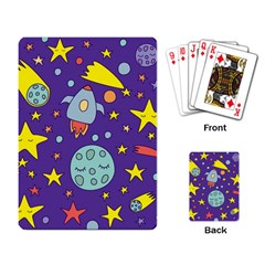Card With Lovely Planets Playing Cards Single Design (rectangle)
