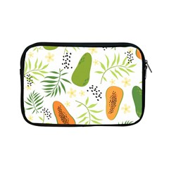 Seamless Tropical Pattern With Papaya Apple Ipad Mini Zipper Cases