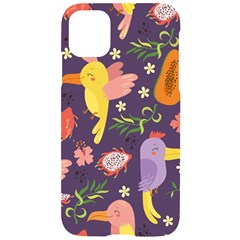 Exotic Seamless Pattern With Parrots Fruits Iphone 11 Black Uv Print Case