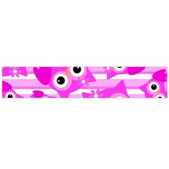Pink Owl Pattern Background Large Flano Scarf  by Vaneshart