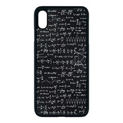 Math Equations Formulas Pattern Iphone Xs Max Seamless Case (black)