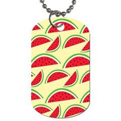 Watermelon Pattern Dog Tag (one Side)