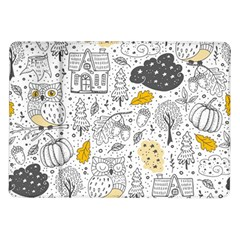 Doodle Seamless Pattern With Autumn Elements Samsung Galaxy Tab 10 1  P7500 Flip Case by Vaneshart