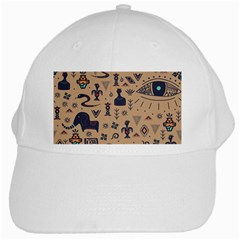 Vintage Tribal Seamless Pattern With Ethnic Motifs White Cap