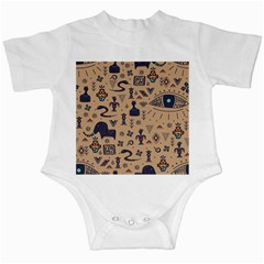Vintage Tribal Seamless Pattern With Ethnic Motifs Infant Creepers