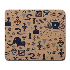 Vintage Tribal Seamless Pattern With Ethnic Motifs Large Mousepads
