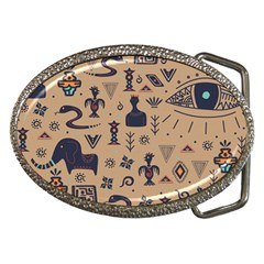 Vintage Tribal Seamless Pattern With Ethnic Motifs Belt Buckles