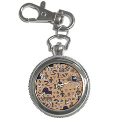 Vintage Tribal Seamless Pattern With Ethnic Motifs Key Chain Watches
