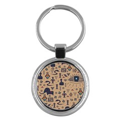 Vintage Tribal Seamless Pattern With Ethnic Motifs Key Chain (Round)