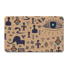 Vintage Tribal Seamless Pattern With Ethnic Motifs Magnet (Rectangular)