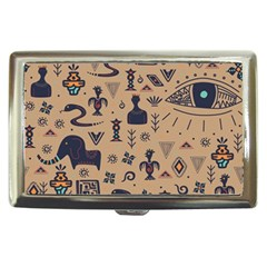 Vintage Tribal Seamless Pattern With Ethnic Motifs Cigarette Money Case