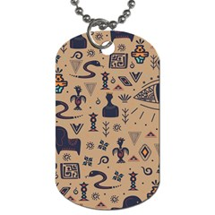 Vintage Tribal Seamless Pattern With Ethnic Motifs Dog Tag (Two Sides)