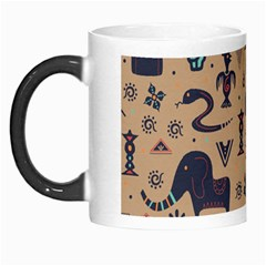 Vintage Tribal Seamless Pattern With Ethnic Motifs Morph Mugs