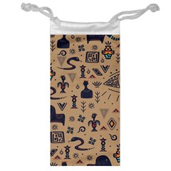 Vintage Tribal Seamless Pattern With Ethnic Motifs Jewelry Bag