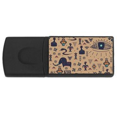 Vintage Tribal Seamless Pattern With Ethnic Motifs Rectangular USB Flash Drive