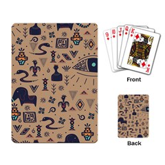 Vintage Tribal Seamless Pattern With Ethnic Motifs Playing Cards Single Design (Rectangle)