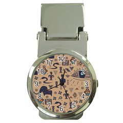 Vintage Tribal Seamless Pattern With Ethnic Motifs Money Clip Watches