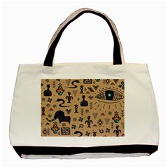 Vintage Tribal Seamless Pattern With Ethnic Motifs Basic Tote Bag