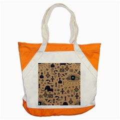 Vintage Tribal Seamless Pattern With Ethnic Motifs Accent Tote Bag
