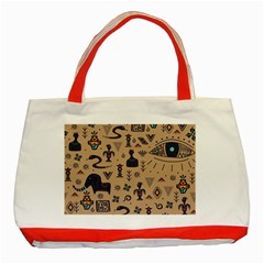 Vintage Tribal Seamless Pattern With Ethnic Motifs Classic Tote Bag (Red)