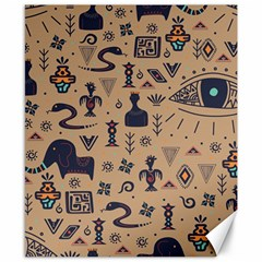 Vintage Tribal Seamless Pattern With Ethnic Motifs Canvas 8  x 10