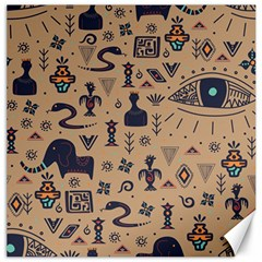 Vintage Tribal Seamless Pattern With Ethnic Motifs Canvas 12  x 12
