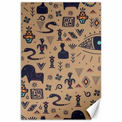 Vintage Tribal Seamless Pattern With Ethnic Motifs Canvas 12  x 18
