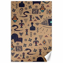 Vintage Tribal Seamless Pattern With Ethnic Motifs Canvas 24  x 36