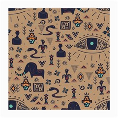 Vintage Tribal Seamless Pattern With Ethnic Motifs Medium Glasses Cloth