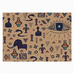 Vintage Tribal Seamless Pattern With Ethnic Motifs Large Glasses Cloth