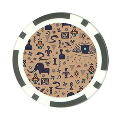 Vintage Tribal Seamless Pattern With Ethnic Motifs Poker Chip Card Guard