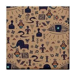 Vintage Tribal Seamless Pattern With Ethnic Motifs Face Towel