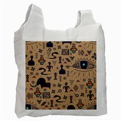 Vintage Tribal Seamless Pattern With Ethnic Motifs Recycle Bag (One Side)