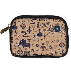 Vintage Tribal Seamless Pattern With Ethnic Motifs Digital Camera Leather Case