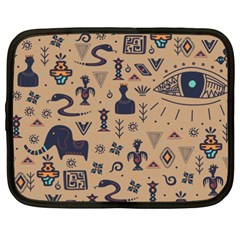 Vintage Tribal Seamless Pattern With Ethnic Motifs Netbook Case (XXL)