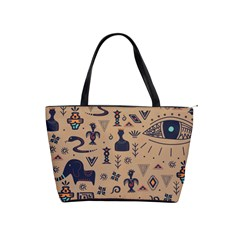 Vintage Tribal Seamless Pattern With Ethnic Motifs Classic Shoulder Handbag