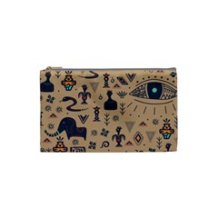Vintage Tribal Seamless Pattern With Ethnic Motifs Cosmetic Bag (Small)