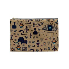 Vintage Tribal Seamless Pattern With Ethnic Motifs Cosmetic Bag (Medium)