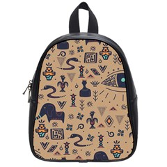 Vintage Tribal Seamless Pattern With Ethnic Motifs School Bag (Small)