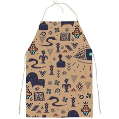 Vintage Tribal Seamless Pattern With Ethnic Motifs Full Print Apron