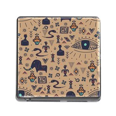 Vintage Tribal Seamless Pattern With Ethnic Motifs Memory Card Reader (Square 5 Slot)