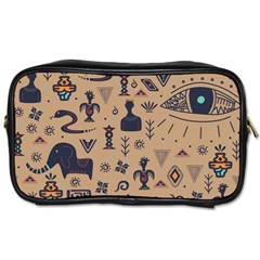 Vintage Tribal Seamless Pattern With Ethnic Motifs Toiletries Bag (One Side)
