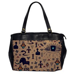 Vintage Tribal Seamless Pattern With Ethnic Motifs Oversize Office Handbag