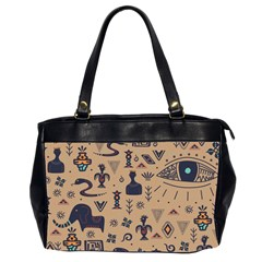 Vintage Tribal Seamless Pattern With Ethnic Motifs Oversize Office Handbag (2 Sides)